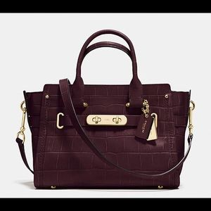 Coach Swagger in Crocodile Embossed Leather